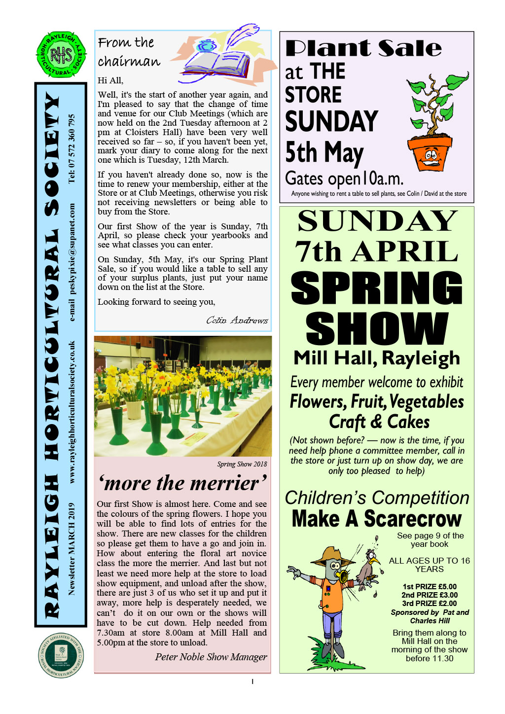 RHS News March 2019 Col-1