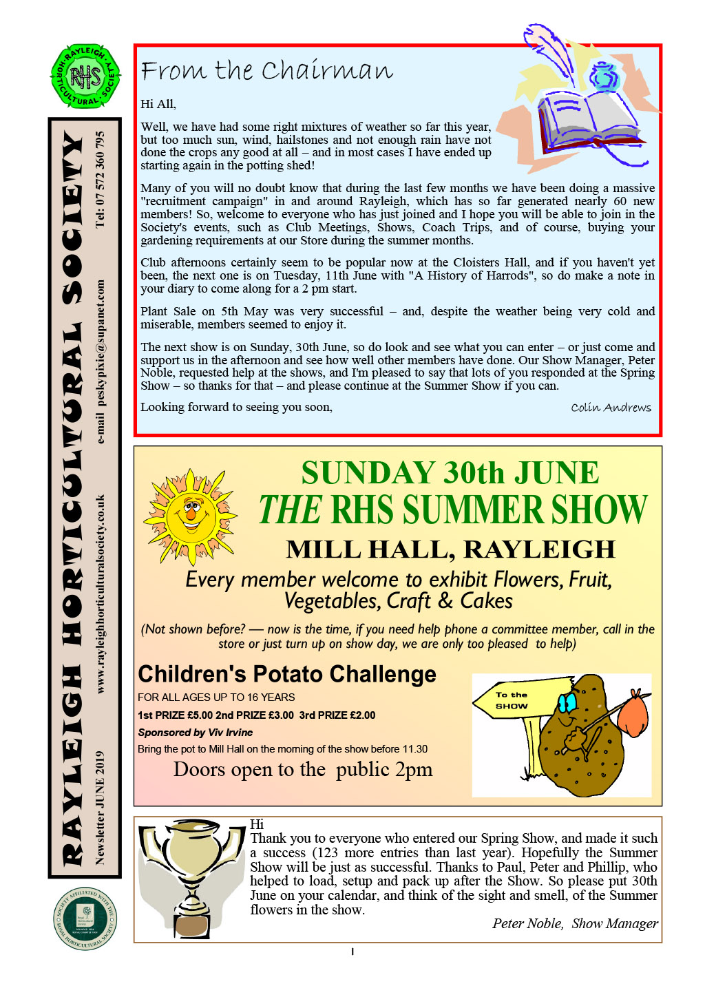 RHS News June 2019 Col-1