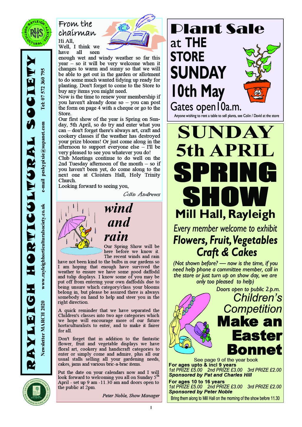 RHS News March 2020 Col-1